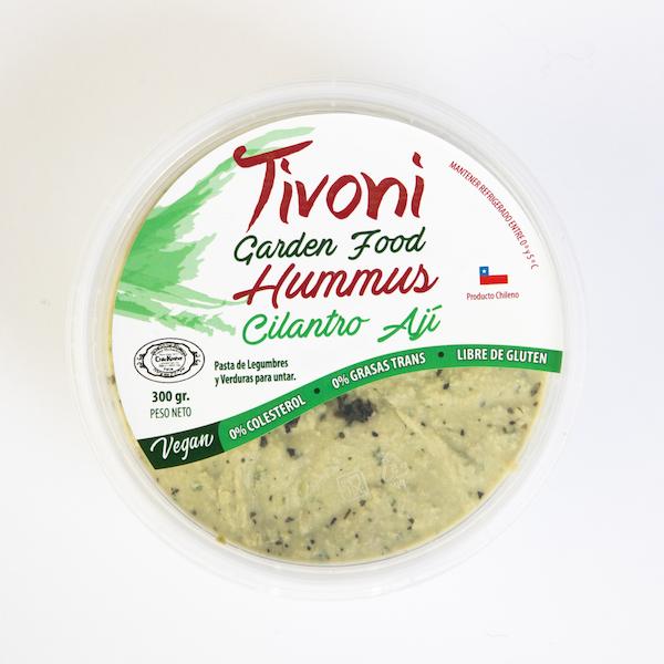 Hummus Tivoni Garden Foods Cilantro y Ají